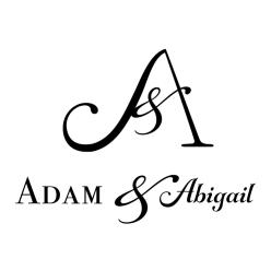 Adam and Abigail BW Logo